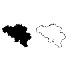 Simple only sharp corners map belgium drawing vector