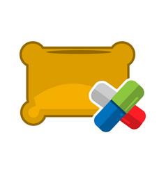 sleeping pills flat design vector image