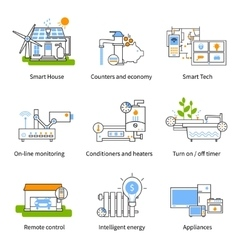 Smart House Concept Icon Set vector