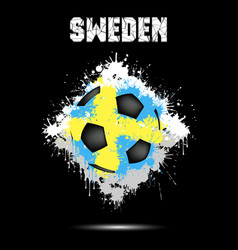 Soccer ball in color sweden vector