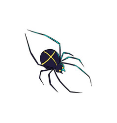 spider is a symbol of phobias and horrors design vector image