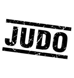 square grunge black judo stamp vector image