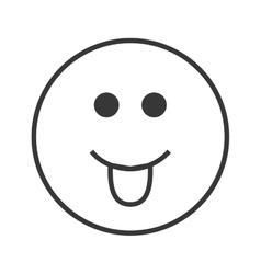 tongue out emoticon icon vector image