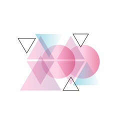 trendy gradient geometric forms colorful abstract vector image