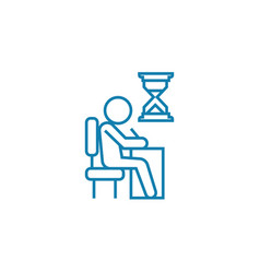 Urgent assignment linear icon concept urgent vector