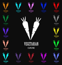 vegetarian cuisine icon sign Lots of colorful vector image