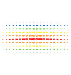Video gpu card spectrum halftone array vector