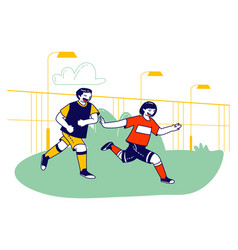young boys football players in team uniform vector image