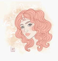 Zodiac leo astrological sign vector
