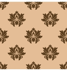 Beige seamless floral pattern background vector image vector image