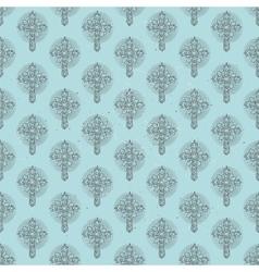 Christmas cross pattern vector image vector image