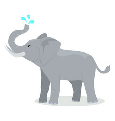 elephant cartoon icon in flat design vector image vector image