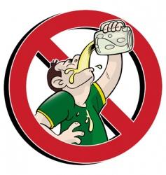 no drink vector image vector image