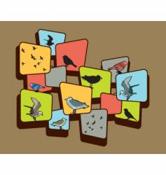 birds on a brown background vector image vector image