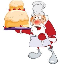 Cute Santa Claus Gourmet Chef vector image vector image