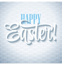 Easter greeting with eggs vector