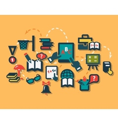 education flat icons vector image vector image