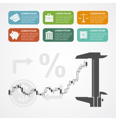 Investment infographic vector image vector image