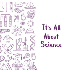 science or chemistry elements vector image vector image