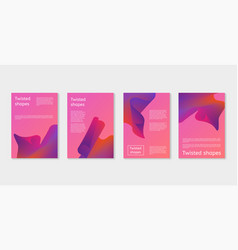 set of modern covers with twisting shape elements vector image vector image