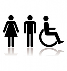 toilet symbols disabled vector image vector image