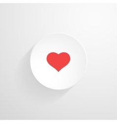 white round button Heart icon vector image vector image