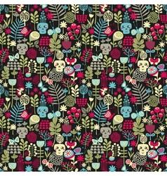 Cute skulls seamless pattern vector image