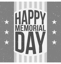 Happy Memorial Day Poster Template with Text vector image