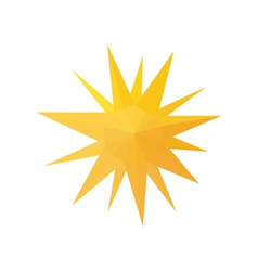 origami sun isolated on white background vector image vector image