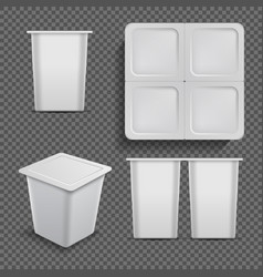 white blank container ice cream dessert and vector image