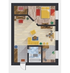 Apartment or flat house floor plan top view vector image vector image