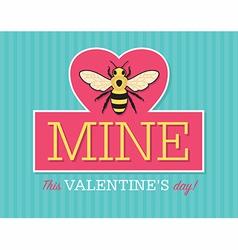 Be Mine Valentine Emblem vector image vector image
