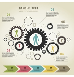 Business gear wheel2 vector image vector image