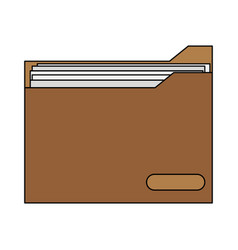 colorful graphic folder with documents inside vector image