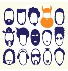 Funny cartoon faces vector image vector image