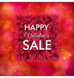 Happy Valentines Sale poster design vector image vector image