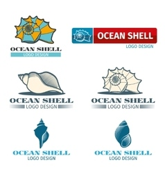 Shell design logo set vector image vector image