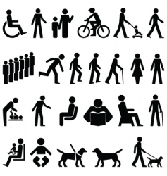 Signage people vector