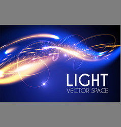 Abstract motion light effect futuristic wave vector