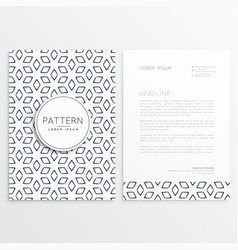 Abstract pattern shape letterhead template vector