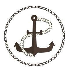 Anchor symbols badge vector
