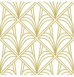 Art deco pattern seamless geometric vintage vector