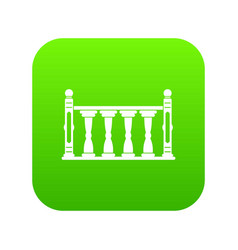 Balustrade icon digital green vector