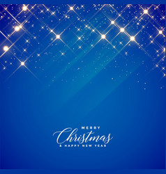 Beautiful blue sparkles and stars background for vector
