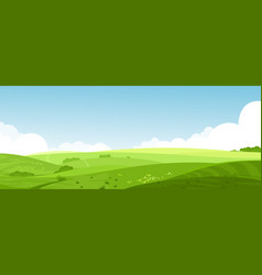 Beautiful summer fields vector