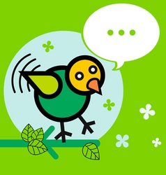 bird twitter vector image