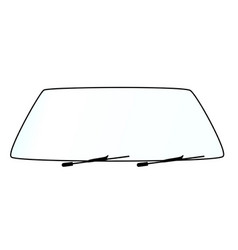 Blank vehicle windshield vector