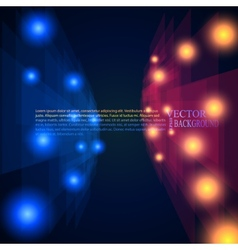 blue and red rays abstract mosaic perspective vector image