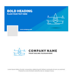 Blue business logo template for water monitoring vector