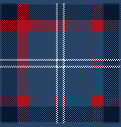 blue red and white tartan plaid seamless pattern vector image